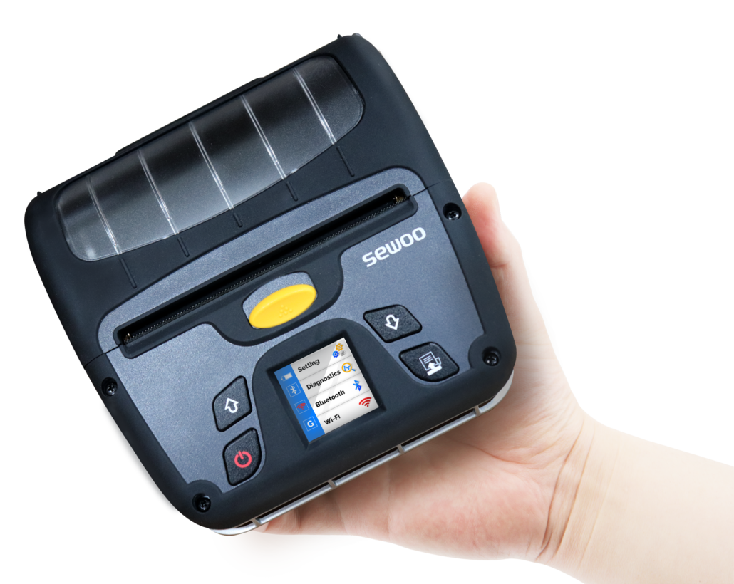A impressora móvel entrega mobilidade na hora da impressão de recibos e etiquetas